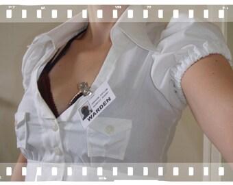 Harley Quin inspired WHITE Shirt Women's costume NEW sale