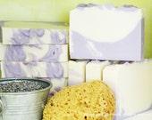 Lavanda - 7 oz Cold Process Soap with Cocoa Butter and Lavender Essential Oil