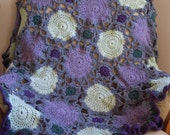 Green and Purple Cirlces Afghan