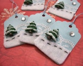 Christmas Gift Tags - Winter Tree - Set of 5