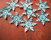 Snowflake Scrapbooking Embelishment - paper goods - Winter Wonderland - Set of 10