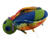 Olive Green and Slate Blue Cicada w/ Multi-Color Wings