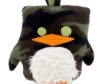 Cammo Penguin with Cream Fur Patch