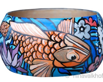 Bangle / Bracelet 'Koi fish paradise'