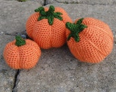 PDF Crochet Pattern Pack - Amigurumi Pumpkins 1-3