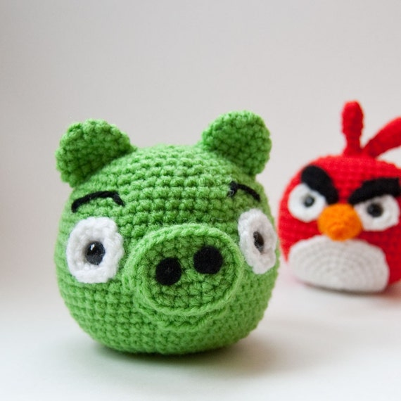 Crochet Pattern Pack - Angry Birds Cardinal and Pig - PDF