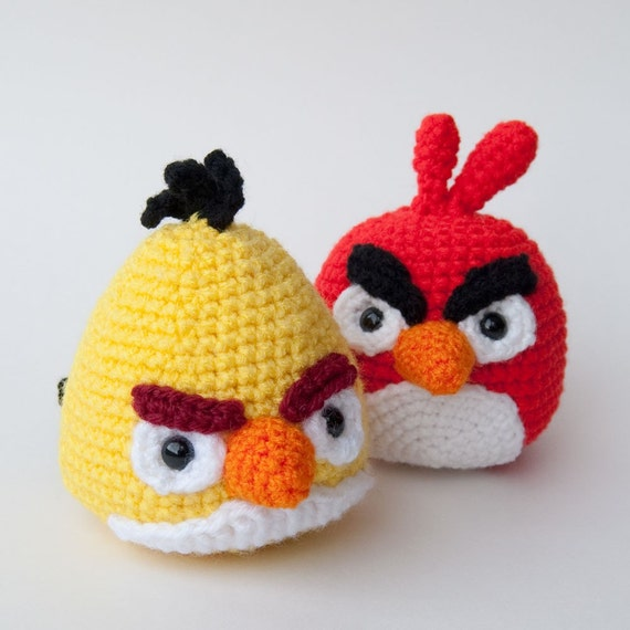 Angry Birds Crochet Pattern Yellow Bird PDF