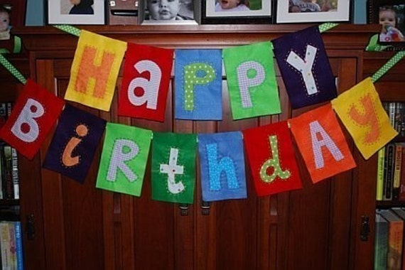 Happy Birthday Banners and Childs Name Banner