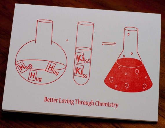 Letterpress Love Card, Better Loving Through Chemistry