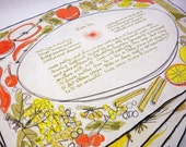 Vera Placemats Fall Harvest Colors with Recipes