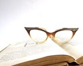 Vintage Cateye Glasses - Plastic Bausch and Lomb Frames