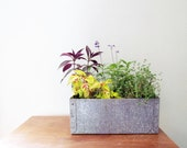 Vintage Galvanized Metal Box - Industrial Style - Great for a Planter