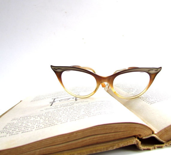 vintage cateye glasses plastic bausch and lomb frames