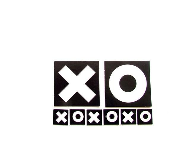 XO xo xo Vintage Game Pieces