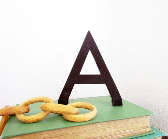 Vintage Letter A - Painted Wood