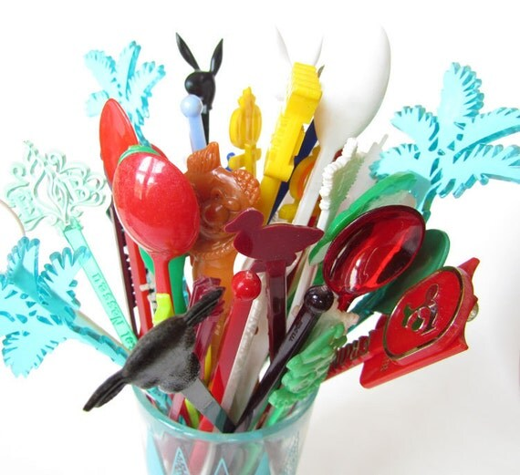 Vintage Swizzle Sticks - Collection of 50