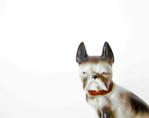 Vintage French Bulldog Figurine - Made in Japan