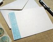 Geometric Flat Note Cards Stationery Set