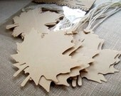 Maple Leaf Gift Tags and Place Cards, Wedding Escort Cards and Favor Tags