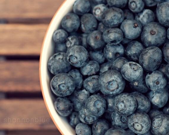 Https Etsy Com Listing 78669249 Blueberry Food Photograph Kitchen Decor