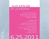 Wedding Invitation Modern - Printable Digital
