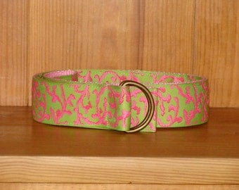 Pink and Green Coral Belt