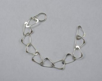 Sterling Silver Triangles Bracelet Handmade by Artist in USA