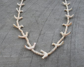 Handmade Native American Fetish and Heishi Necklace Made by Artist Designer