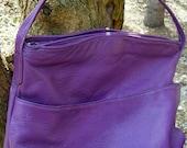 Vintage Violet Soft Shoulder Bag