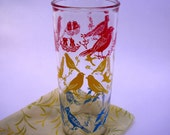 Adorable Aviary Vintage Drinking Glass