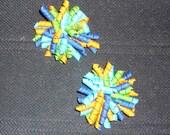 Multi-Colored Korker Bow Set