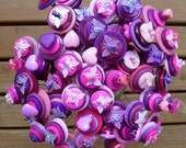 Custom wedding button bouquet butterflies and hearts