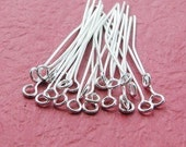 390pcs 20mm Silver Color Eyepins 9 Shape Pin r223