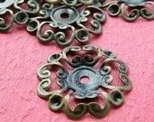 20pcs 24mm Bronze Filigree Flower Beads Caps/Wire Wrap Charm S119--20% OFF
