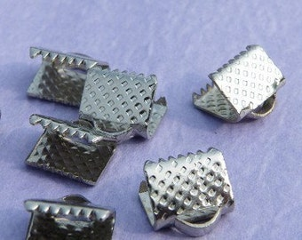 40pcs 8x8mm Square Fasteners Clasps r02