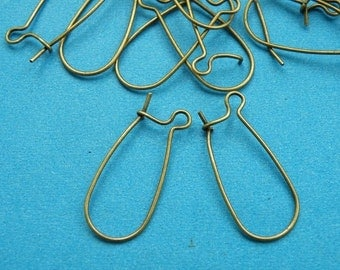 Kidney Earring 40pcs 26MM Antique Bronze Kidney  Wire Earring M23--20% OFF