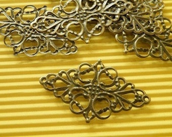20pcs 30x50mm Antique Bronze Filigree Wire Wrap Base S159--20% OFF