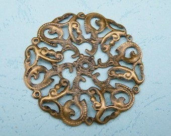 10pcs 45mm x 45mm Bronze Filigree Wrap Base S132--20% OFF