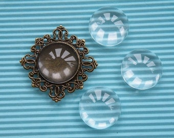 Glass Cabochon 10pcs 25mm Clear  Glass Dome  R518--20% OFF