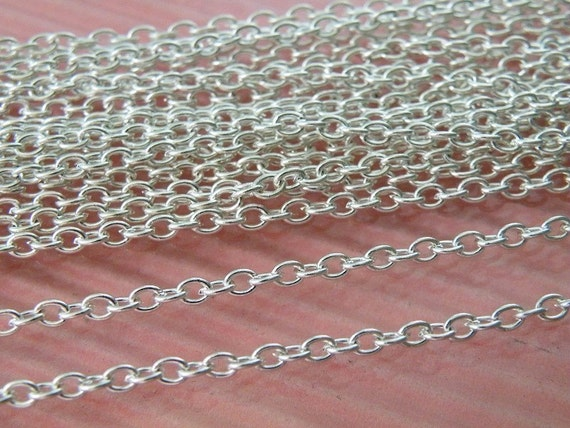 33Feet 3x4mm Silver Color Oval Cable Chain L13