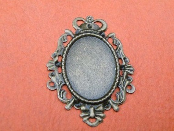 Cameo Setting 8pcs 30x22mm Antique Bronze Cabochons Settings Cameo Base S40--20% OFF
