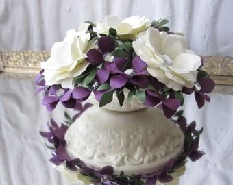 Wedding Cake Topper Handmade Paper Flowers