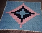 PATTERN - CROCHETED GLORIFIED CROSS AFGHAN  OR WALL HANGING