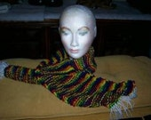 Scarf, Knitted, Mexican, Multi Colored