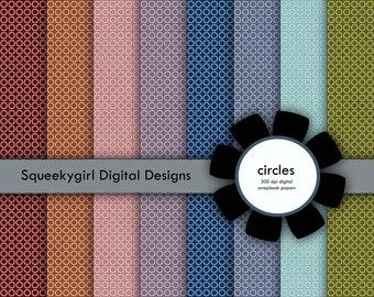 Circles Digital Paper - 8 pack - 12x12 in