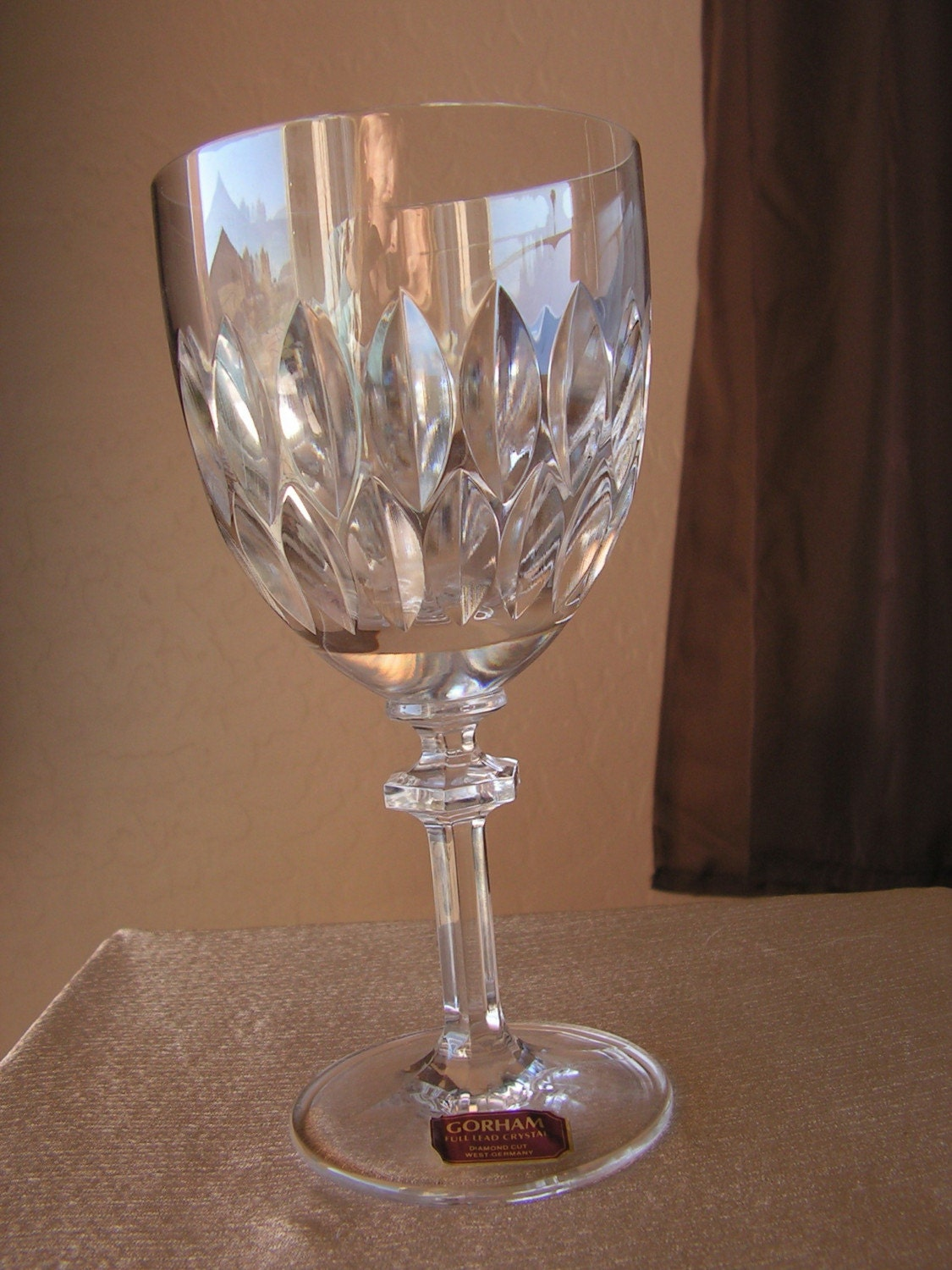 Vintage Gorham Full Lead Crystal Wine Glass By Retrosideshow