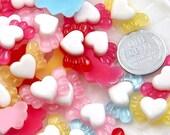 20mm Mini Angel Heart Resin Cabochons - 25 pc set