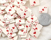 12mm Little Playing Cards Flatback Cabochons - 10 pc set