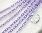 Plastic Chain - 7mm Delicate Plastic Purple Chain - 55 inches or 140 cm - 2 pieces - NEW longer length
