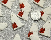 30mm Halloween Kid in Ghost Costume Resin Cabochons - 6 pc set